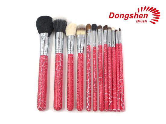 New wooden handle 12pcs natural hair brush set